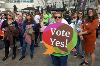 Gibraltar for Yes rally at Casemates